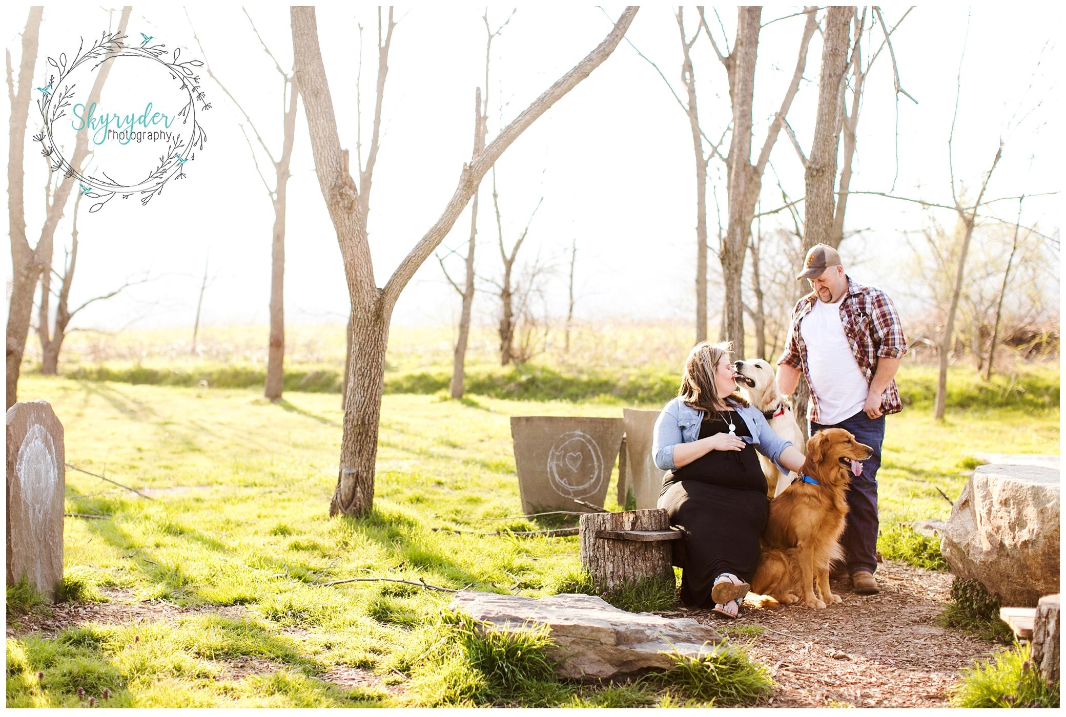 Kelsey & Ricky | Blacksburg Maternity Photographer | Heritage Park