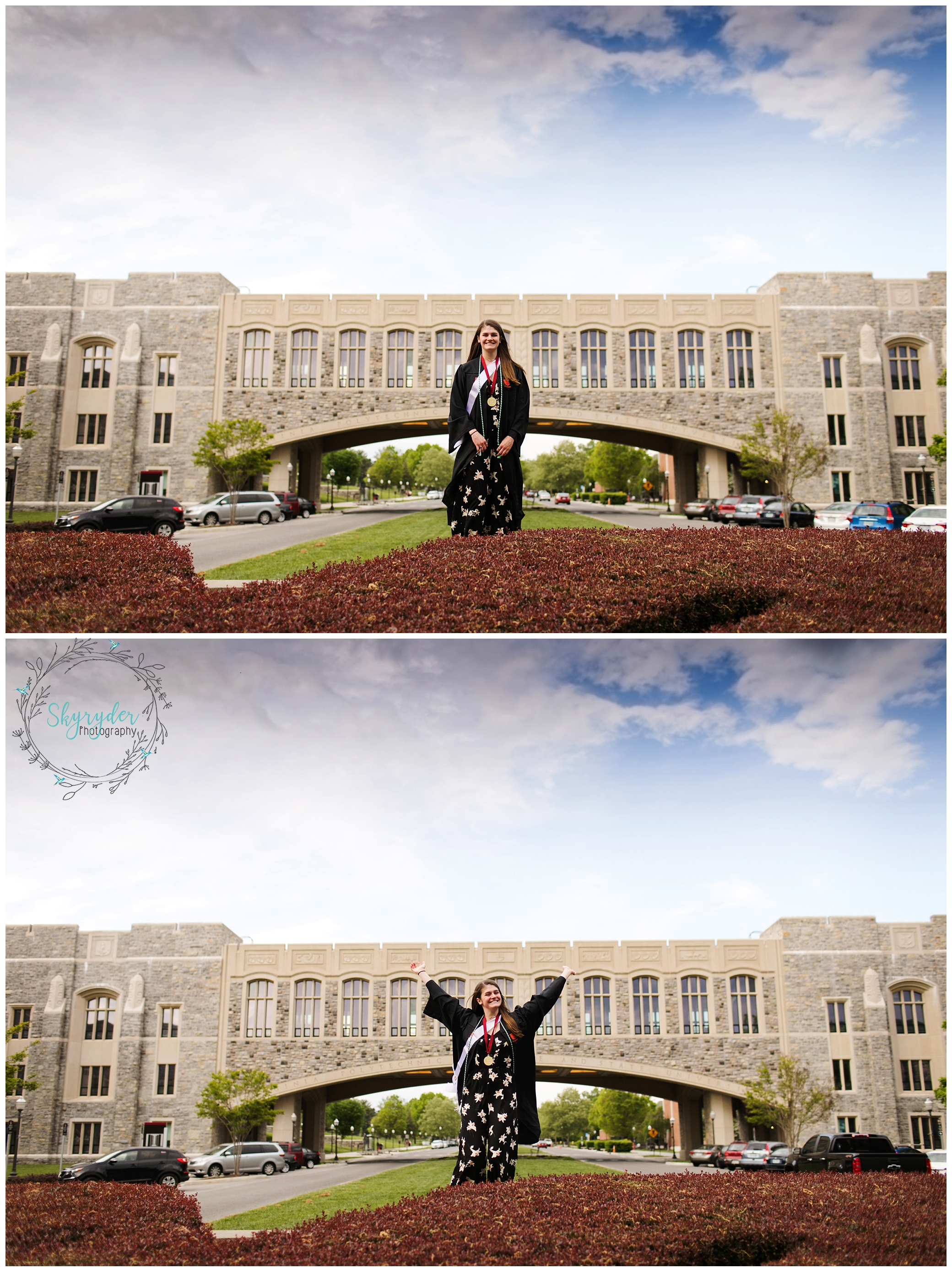 virginia tech VT senior session high school college blacksburg photographer photography roanoke skyryder virginia