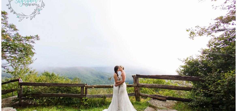 Danielle + Lindsay   Mountain Lake Wedding Photographer